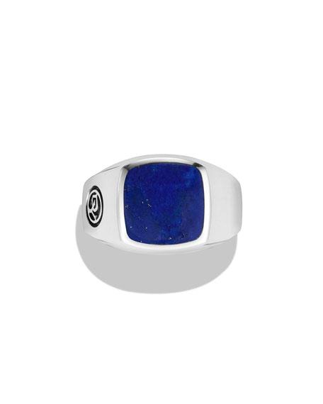 Lapis Lazuli Cushion Signet Ring