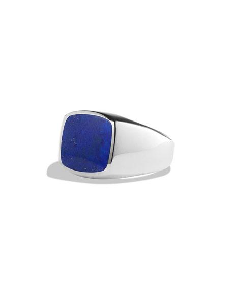 David Yurman Lapis Lazuli Cushion Signet Ring
