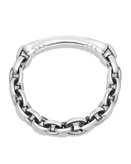 Men's Streamline ID Bracelet with Black Diamonds