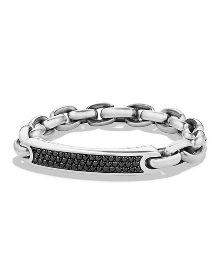 David Yurman Men's Streamline ID Bracelet with Black