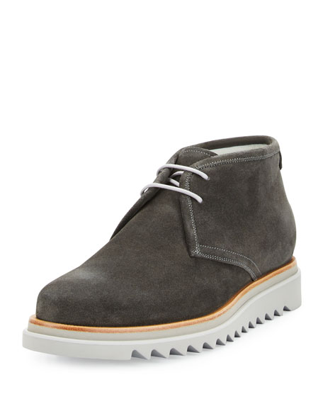 Salvatore Ferragamo Lagos Suede Chukka Boot on Archival