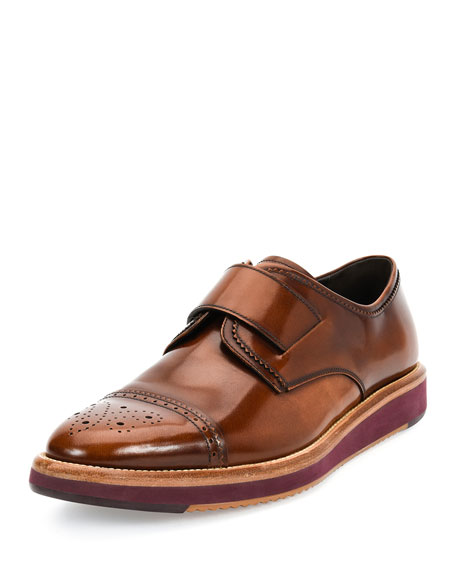 Salvatore Ferragamo Luke Calfskin Modern Cap-Toe on Multi-Layer Sole ...