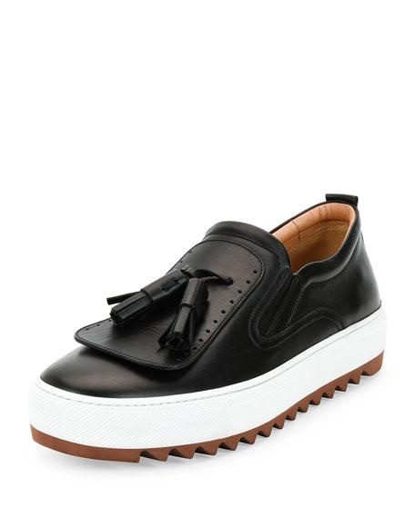 Salvatore Ferragamo Lucca Calfskin Runway Sneaker with Oversized