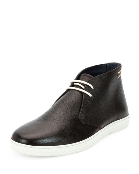 Salvatore Ferragamo Lassen Textured Calfskin Chukka Boot on