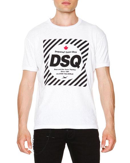 Dsquared2 Logo Graphic Short-Sleeve T-Shirt, White