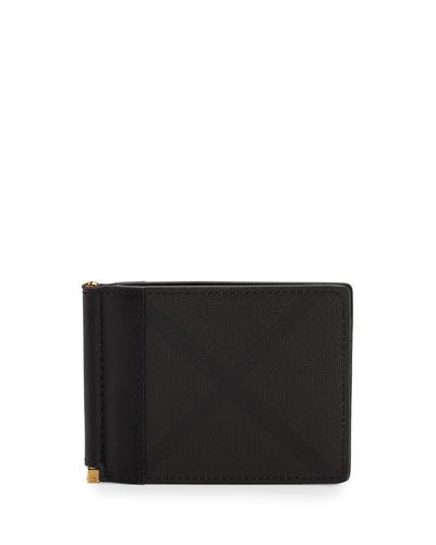 Quillen Check Bifold Money Clip/Wallet, Chocolate/Black
