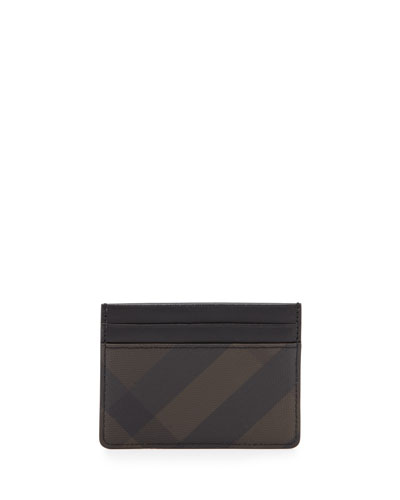 Smoke Check Card Case, Chocolate/Black
