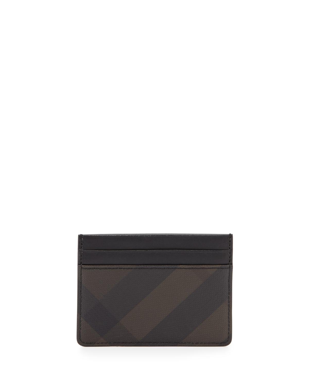 4c4e58485517 Burberry Smoke Check Card Case