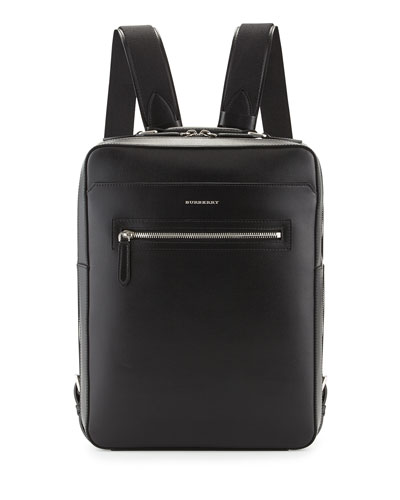 Westport Square Leather Backpack, Black