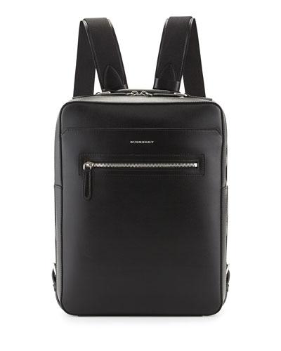 Westport Square Leather Backpack, Black