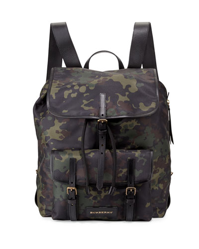 Brookdale Camo-Print Backpack, Dark Green