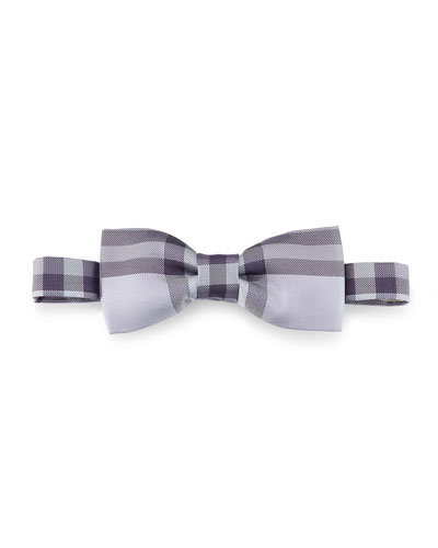 Blake Check Silk Bow Tie, Purple