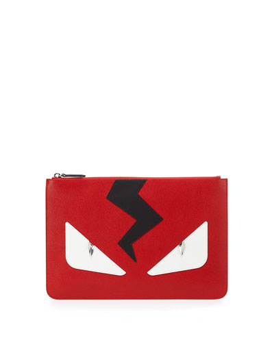 Monster Leather Pouch, Red