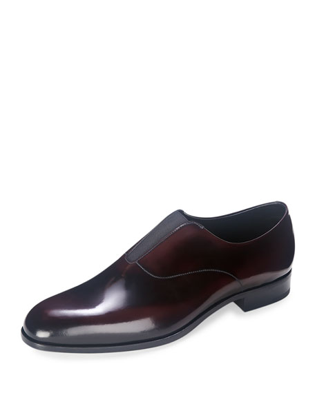 Prada Cordovan Slip-On Loafer, Burgundy