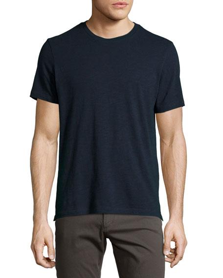 Vince Slub Crewneck T-Shirt, Navy