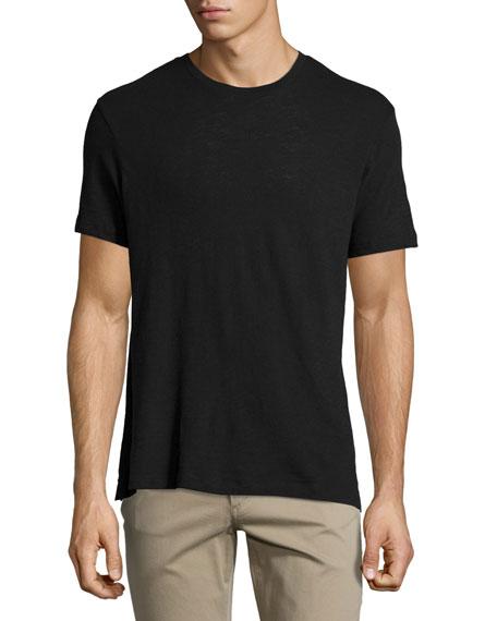 Vince Slub Crewneck T-Shirt, Black
