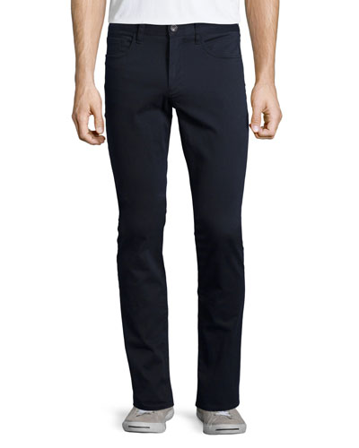 Essential Five-Pocket Twill Pants, Gray