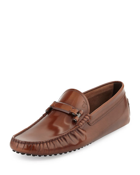 Tod's Leather Bit-Strap Driver, Brown