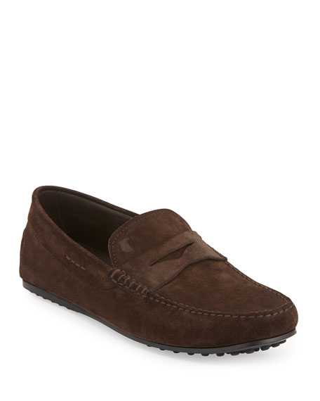 Tod'sSuede Gommini Penny Driver, Brown