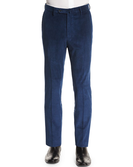 Incotex Wide-Whale Corduroy Trousers, Navy