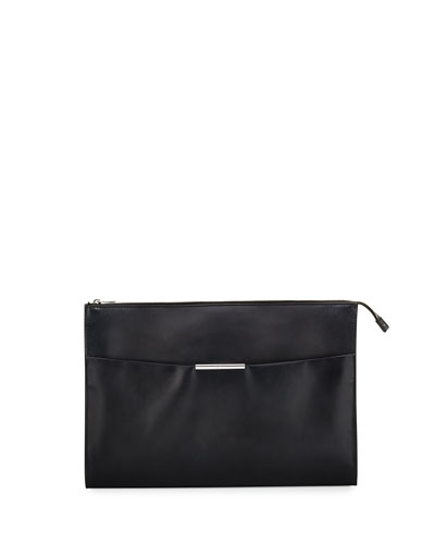 Limited Edition Leather Portfolio Case, Gray