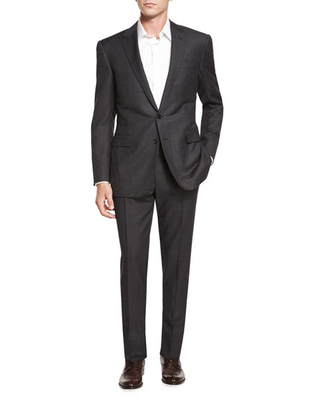 Ralph Lauren Black Label Anthony Birdseye Two-Piece Wool