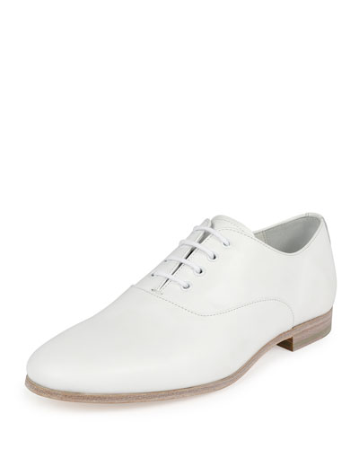 Runway Lace-Up Shoe, White