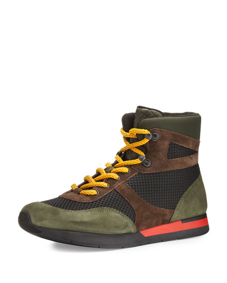 Bottega Veneta Colorblock Hiker Sneaker, Multicolor