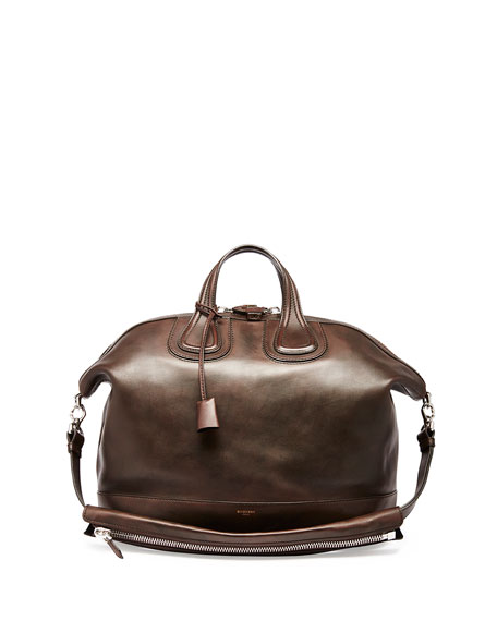 Givenchy Nightingale Men's Leather Satchel Bag, Brown