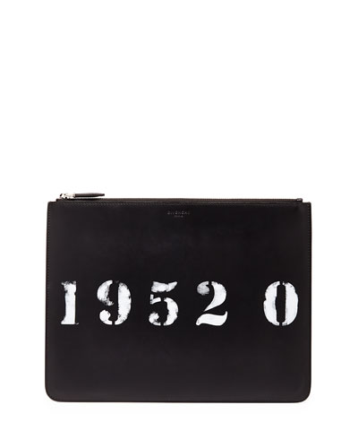 Codification Leather Pouch, Black