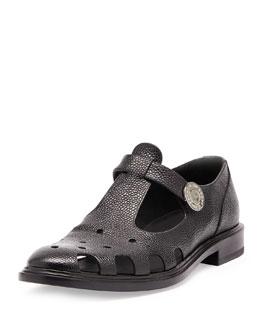 Runway Perforated Shoe, Black