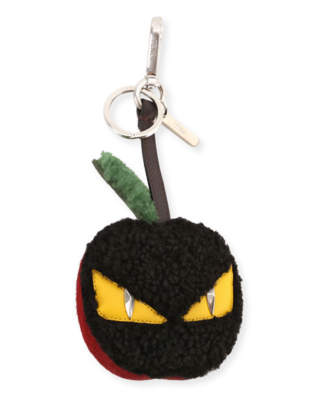 Fendi Monster Eye Apple Charm, Black