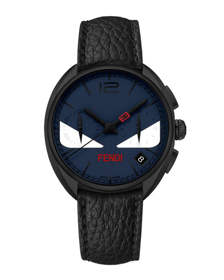 Fendi 40mm Men's Monster Eyes Chronograph Watch, Blue