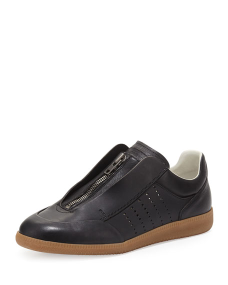 Maison Margiela Circuit Perforated Leather Low-Top Sneaker, Black