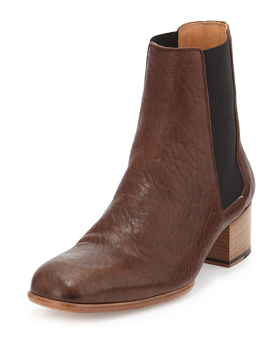 Replica Leather Chelsea Boot, Brown