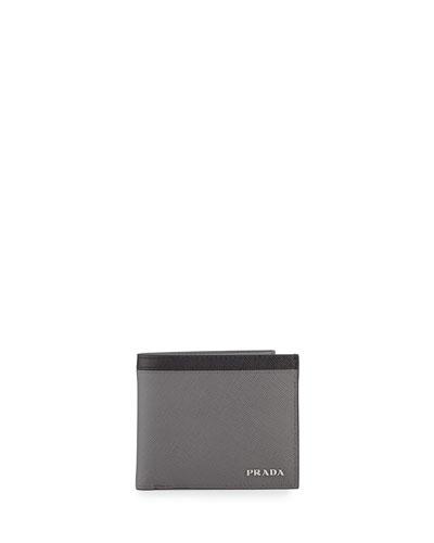 Saffiano Leather Wallet Bi-Fold Wallet