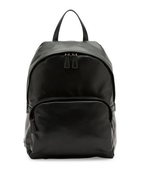 prada tessuto saffiano nylon tote price - Prada Leather Backpack with Nylon Trim, Black