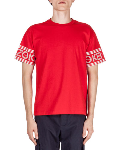 Logo-Print Short-Sleeve T-Shirt, Red