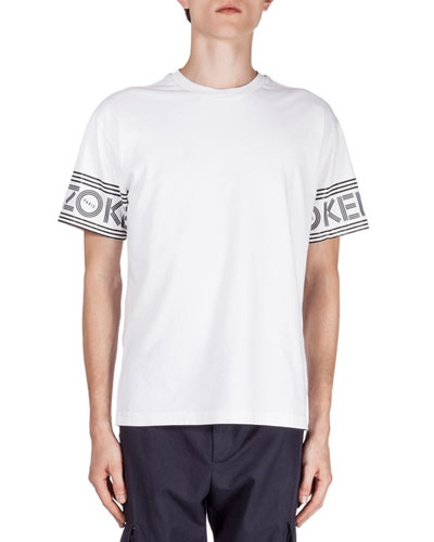 Logo-Print Short-Sleeve T-Shirt, White