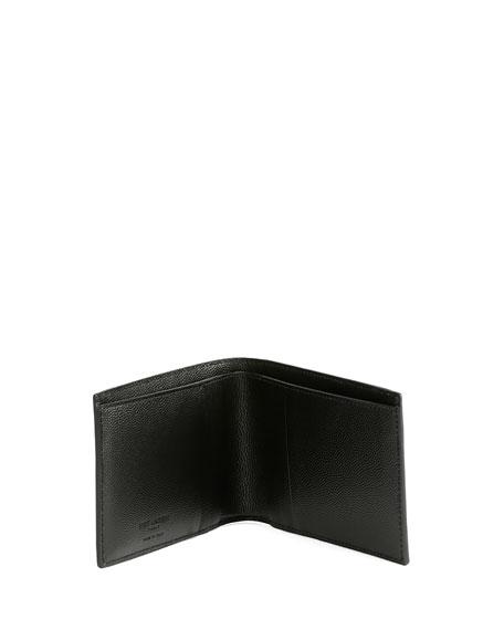 Classic Leather Bi-Fold Wallet, Black