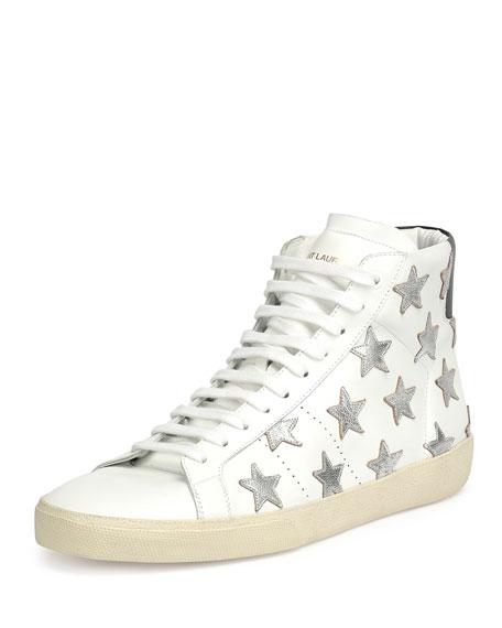 Saint Laurent Leather High-Top Sneaker