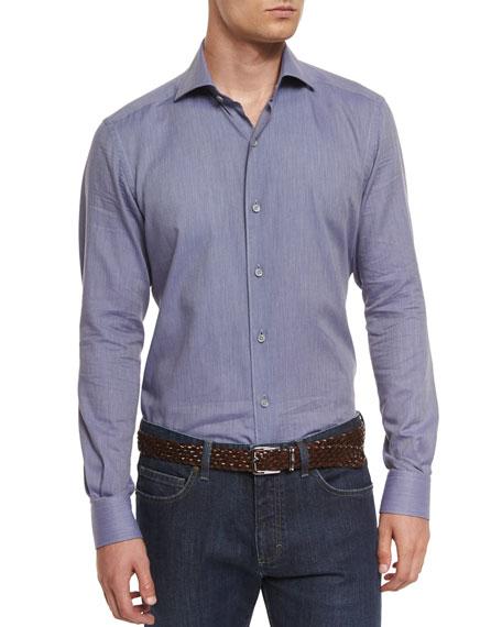 Ermenegildo Zegna Baby Flannel Long-Sleeve Sport Shirt, Purple
