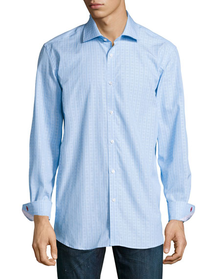 Robert Graham Lex Regular-Fit Striped Dress Shirt, Teal