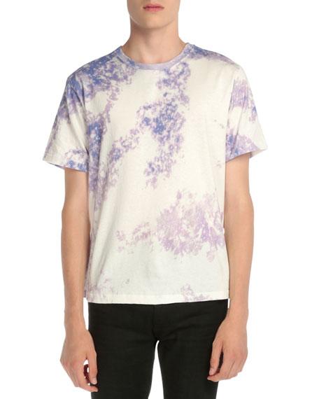 Saint Laurent Tie-Dye Short-Sleeve T-Shirt, Purple