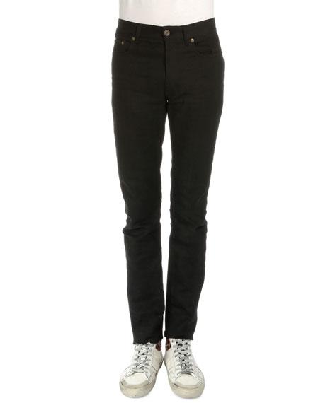 Saint Laurent Five-Pocket Slim-Fit Jeans, Black