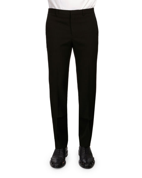 Givenchy Slim-Fit Wool Trousers, Black