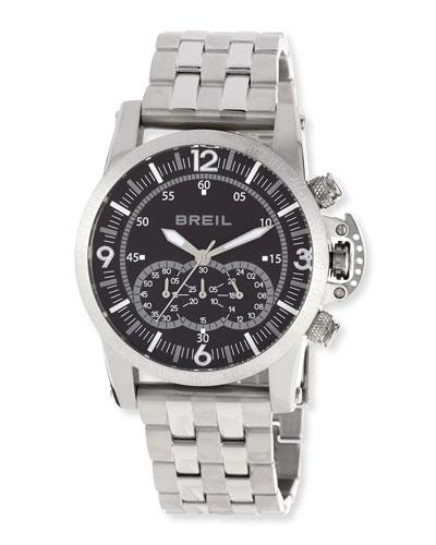 Aviator Chronograph Bracelet Watch, Black