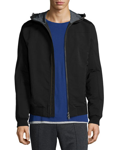 Highline Scuba Zip-Up Hoodie, Black