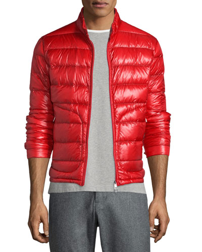 Acorus Quilted Nylon Puffer Jacket, Red
