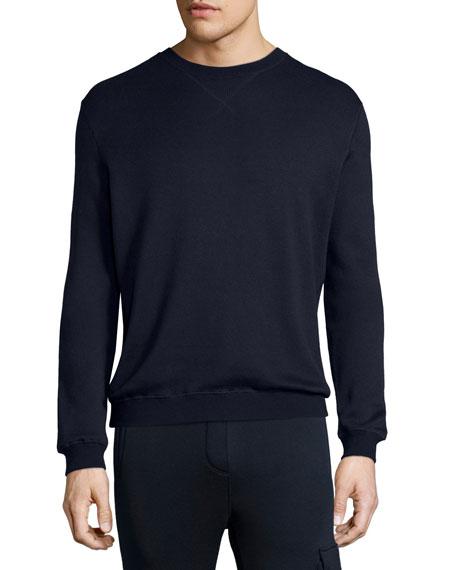 ATM Anthony Thomas Melillo Terry Crewneck Sweatshirt, Navy